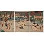 kuniyoshi utagawa, samurai, japanese woodblock print, ukiyo-e, japanese antique