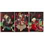 yoshitaki utagawa, Kabuki Play, Yamato Nishiki Asahi no Hataage(大和錦朝日旗揚)