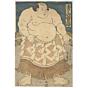 toyokuni III utagawa, Sumo Wrestler Hidenoyama Raigoro