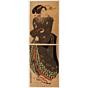 kunisada I utagawa, courtesan, kakemono-e, kimono design