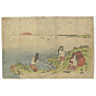 shunko II katsukawa, Picnic on the Shore with Abalone Divers