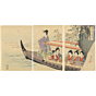 original japanese woodblock print, japanese art, kimono pattern, kimono design, court ladies, chiyoda palace, chikanobu