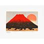 kunio kaneko,  Kotobuki Fuji, red fuji, landscape, contemporary art, gold leaf