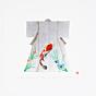 kunio kaneko, lucky kimono, silver, fish, iris flowers, contemporary art