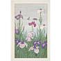 toshi yoshida, irises and ducks, bird and flower