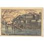 hiroshi yoshida, hayase, cherry blossom, landscape, shin-hanga