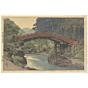 hiroshi yoshida, Sacred Bridge at nikko, landscape, shin-hanga