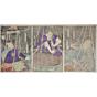kunichika toyohara, Kabuki Play 'Hida no Takumi Shokoku-banashi', theatre, meiji era