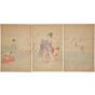 chikanobu yoshu, clam digging, Noble Ladies in the Tokugawa Era