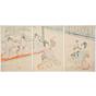 chikanobu yoshu, Saruwaka Kyogen, Court Ladies of the Chiyoda Palace