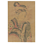 original japanese woodblock print, japanese art, courtesan, kimono design, edo period, elephant