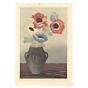 mokuchu urushibara, still life, flower print