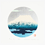 kunio kaneko, mount fuji, landscape, silver pigment, contemporary art