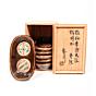 Shoji Hamada, Oval Stoneware Dishes, Ceramics, Pottery, Original Japanese antique