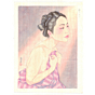 japanese woodblock print, lingering dreams, nude, portrait, contemporary art