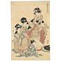 Utamaro Kitagawa, Courtesan, Edo, japanese antique, japanese woodblock print, japanese music