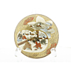 satsuma, handmade, artisan, meiji period, gold, handpainted, flower, crackle, porcelain