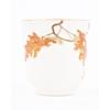 Yabu Meizan, Satsuma Tea Cup, Gilded Red, Maple leaves, Botanical, Japanese antique, Ceramics