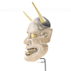 Hannya, Demon Mask, Noh Theatre, Original Japanese antique.