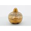 Small Lacquer Incense Box, Gold, Maki-e, Duck, Bird, Japanese antique, Japanese art