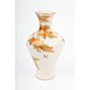 Yabu Meizan, Satsuma Vase with Bird and Maple Motif, Animal, Nature, Autumn, Fall, Ceramics, Original Japanese antique