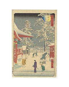 hiroshige II utagawa, kanda myojin shrine, winter landscape
