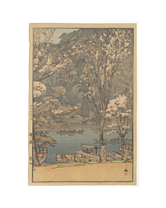 Hiroshi Yoshida, Arashiyama, Eight Scenes of Cherry Blossoms, Shin-hanga