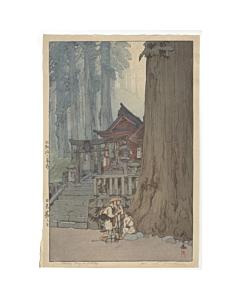 hiroshi yoshida, misty day in nikko, landscape