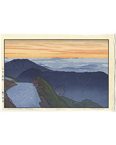 toshi yoshida, mountain landscape, Tsubakurodake