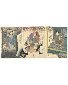 Kunisada I Utagawa, Kabuki, Theatre, Cherry blossom, Edo
