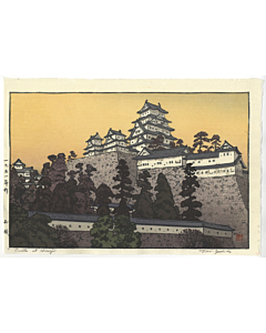 toshi yoshida, himeji castle, landscape