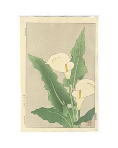 shodo kawarazaki, calla, flower print