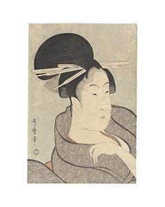 utamaro kitagawa, beauty portrait