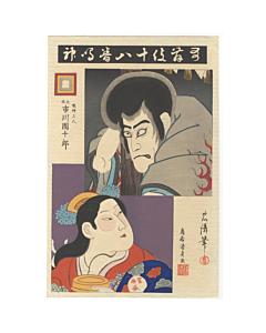 ichikawa danjuro IX, kabuki theatre, narukami