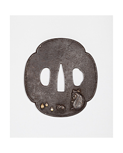 iron tsuba, japanese sword hand guard