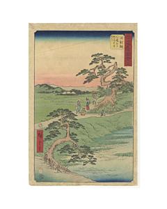 hiroshige ando, landscape, tokaido
