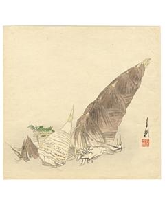 gekko ogata, bamboo shoot, botanical, decorative