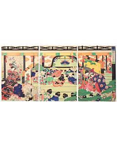 celebration, kimono design, edo period, kamakura, historical