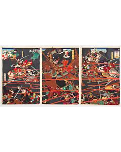 Yoshitora Utagawa, The Battle of Mt. Komaki, Warrior Print, Japanese History