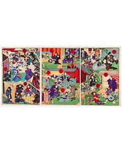 kunitoshi utagawa, chushingura, kabuki play