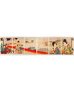 chikanobu yoshu, noh theatre, kimono fashion