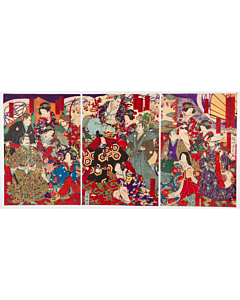 chikanobu yoshu, tokugawa shoguns, historical