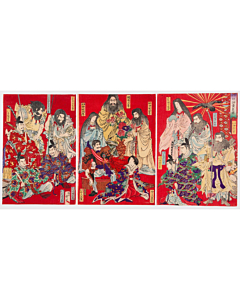 Chikanobu Yoshu, Japanese Empresses and Emperors, Historical