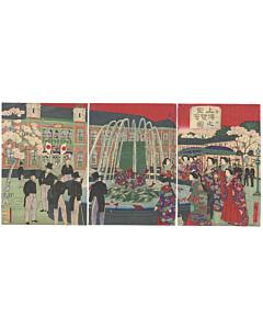 hiroshige III utagawa, ueno, meiji