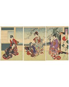 chikanobu yoshu, kimono design