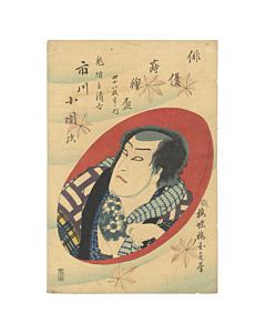 Kunisada II Utagawa, Kabuki Actor Ichikawa Kodanji, Tattoo Design