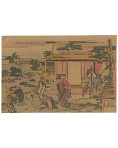 katsushika hokusai, kanadehon chushingura, 47 ronin, japanese woodblock print, japanese antique