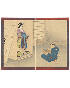 toshihige migita, carver, beautiful woman, sculpture, japan, woodblock print, ukiyo-e