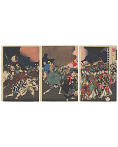 Chikanobu Yoshu, Flower of the East, Palace Evacuation, Firemen
