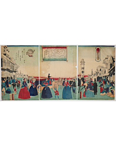 yoshitora utagawa, Washington, America, Comparisons of Famous Places of Foreign Countries